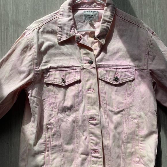 Forever 21 Jackets & Blazers - Pink jean jacket